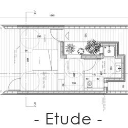 Détail de plan architecture intérieur