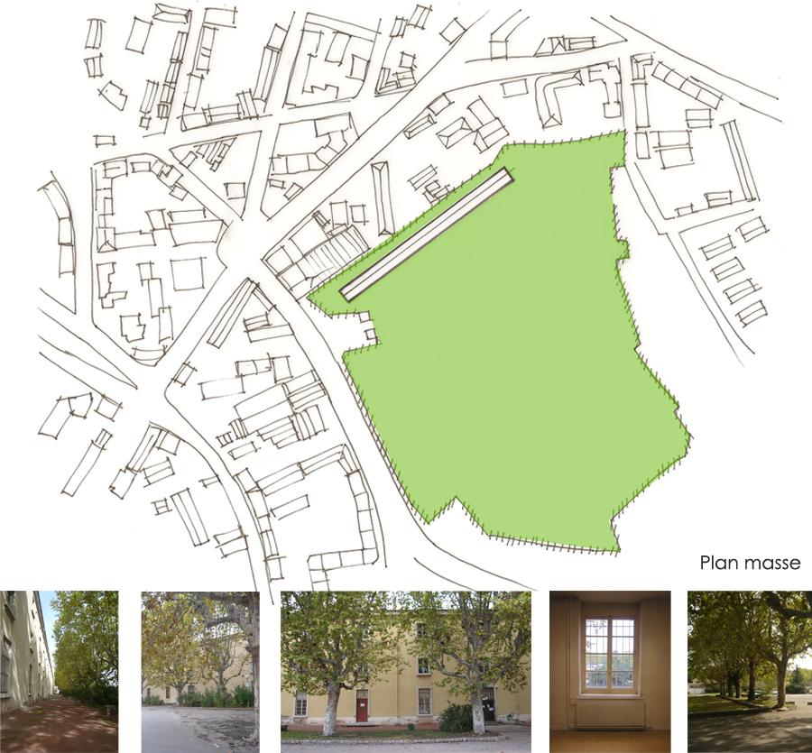 plan d'un projet d'architecture intérieur à Lyon
