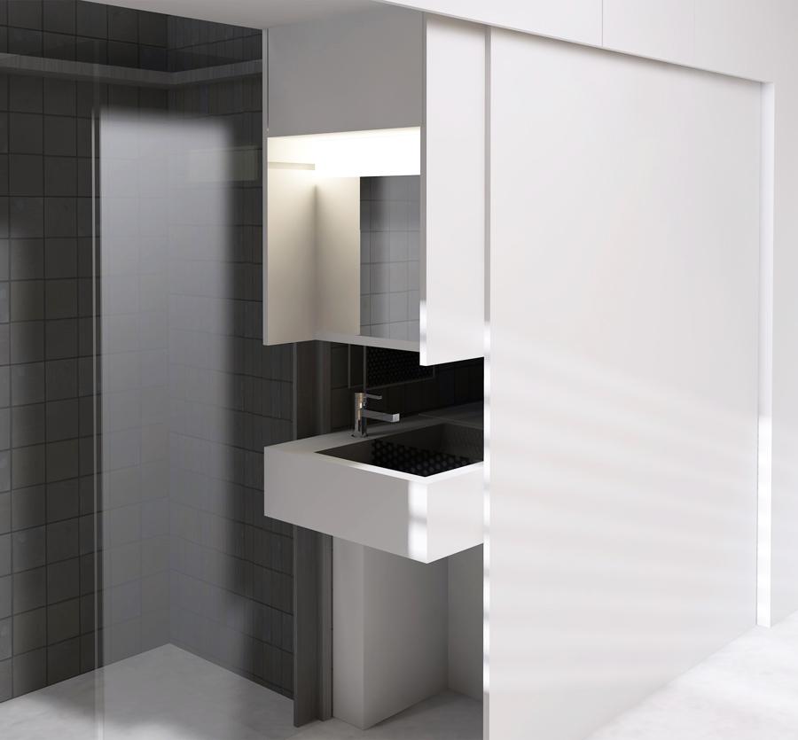 Visuel 3D d'un projet de chambre étudiante optimisé par une architecte d'intérieure à Lyon