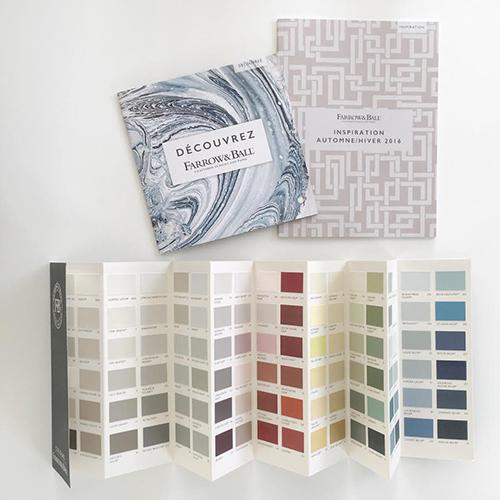 Nuancier de peinture de décoratrice et d'architecte d'intérieure