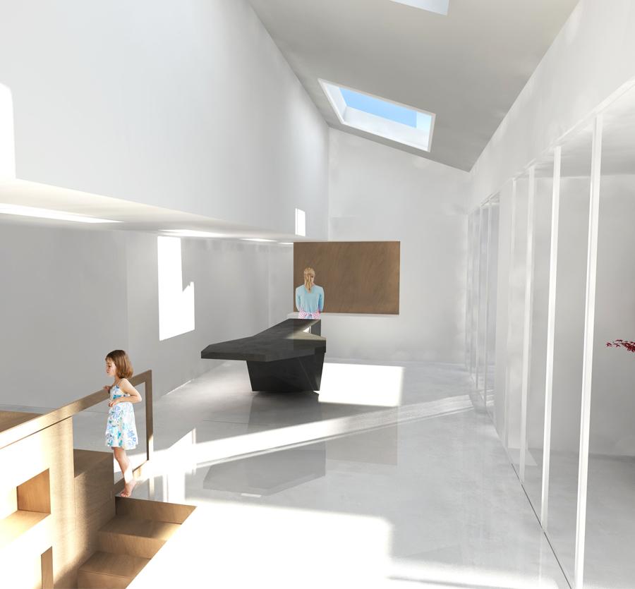 intérieur d'un projet d'architecture intérieure à Lyon