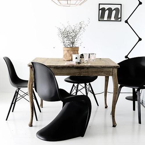 chaise panton noire vitra design