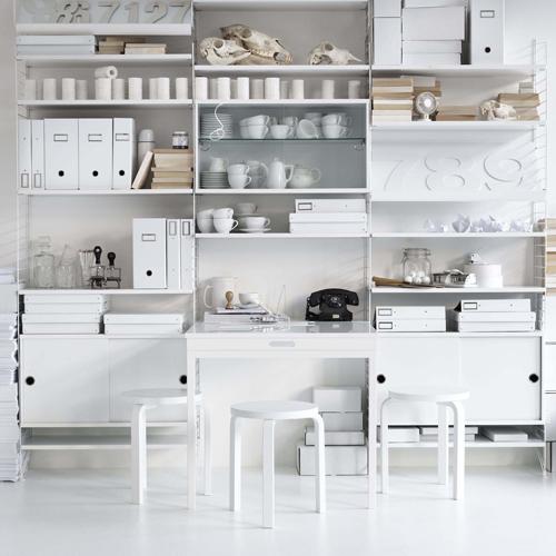 etageres string système blanc design