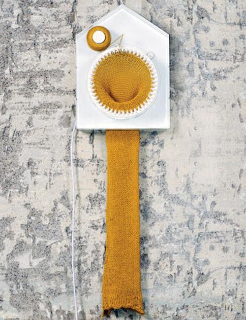 Horloge a tricoter, slow design