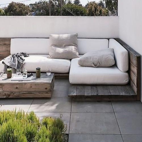 meuble sur mesure balcon blanc beige lin