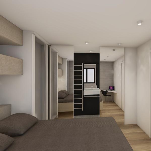 HOUCHES, Chalet contemporain - Chambre avec mini salle de bain