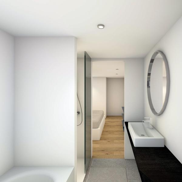 HOUCHES, Chalet contemporain - Salle de bain chambre parentale