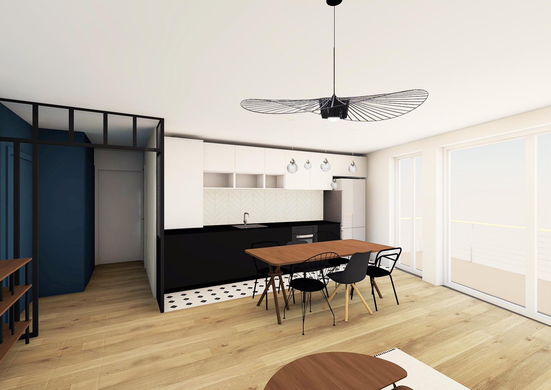 noesis-noir-blanc-chevron-cuisine-kitchen-perspective-3d